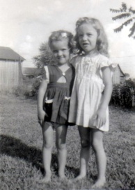 Mom (on the right) and her cousin Deanna.