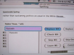 Apparently Orly Taitz and Glenn Beck hacked our spell-check.