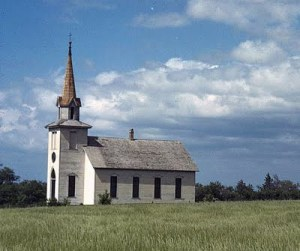 Old church in Junction City, Kan. Picture from old-photos.blogspot.com.