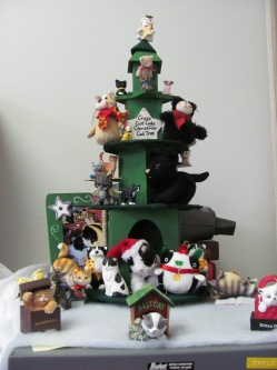 I even bravely built a Crazy Cat Lady Christmas Cat Tree ...