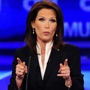 U.S. Rep. Michele Bachmann, R-Minnesota, speaking at the GOP debate in Manchester, N.H. in 2011. Emmanuel Dunand/Getty Images