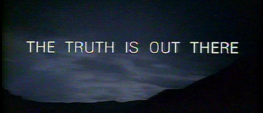 The truth is out there, said The X-Files. Oh, how I miss Mulder and Scully. Image from sciencefiction.com.