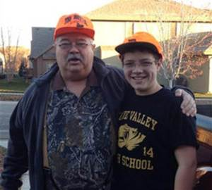 William Lewis Corporan and grandson Reat Griffin Underwood.  Image from NBC News.