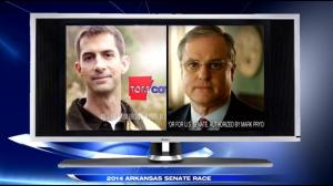 Both Cotton and Pryor have stretched the truth or outright lied in their campaign ads. Image from KATV, Channel 7, Little Rock.