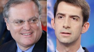 The contenders in Arkansas' U.S. Senate race. Image by Danny Johnston, Associated Press.