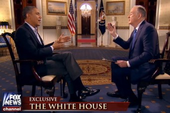 Bill O'Reilly interviews Barack Obama, Feb. 2, 2014. (Credit: Fox News)