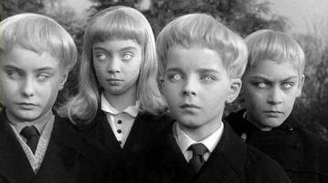 It's a joke ... It's a joke.  Oh, the eyes? Don't worry your pretty little head about that.  Image from Village of the Damned.