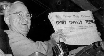 In 1948, this was news (big news). Now it's history. Photo by AP.