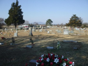 Dayton Cemetery, where several of my relatives are buried. Image from Deborah Musgrove via rootsweb.