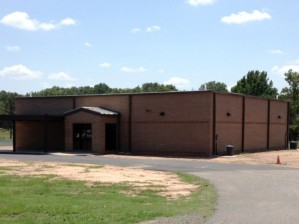 Before the April 27 tornado, construction was completed on the safe room at Vilonia Primary School, one of three community shelters the district has. Image from Nabholz Construction.