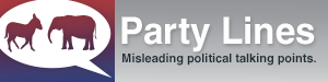 You mean political parties don't always tell the truth? The hell you say! Image from FactCheck.org.