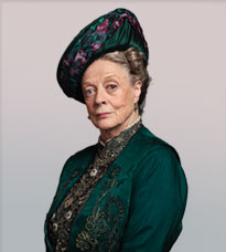If you're as entertaining as the Countess of Grantham, you can be as persnickety as you like.  Image from PBS.org.