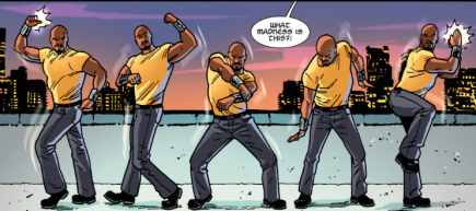 What madness is this? It's Luke Cage bustin' a move, son.