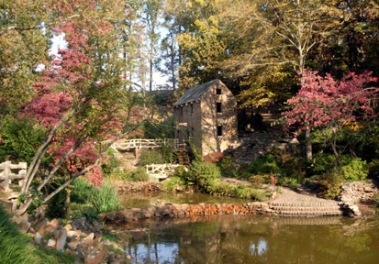 Early fall at the old mill in North Little Rock.