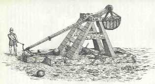 Sometimes I really just want a trebuchet. Is that wrong? Image of a counter-weight trebuchet taken from a book by Sir Ralph Payne-Gallwey, 1903.
