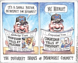 Cartoon by Mike Wuerker, Politico.