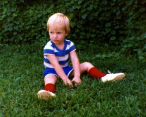 One of my favorite pictures of David as a kid; the image just says so much.