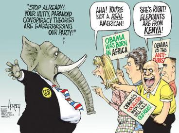 Cartoon by David Horsey, Seattle Post-Intelligencer.