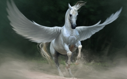 Admit it. You want to have Pegasus for your very own. Image found on mrwallpaper.com.