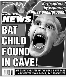 Ahhhh, Bat Boy, how we've missed you. Image found on carlenaltman.blogspot.com.