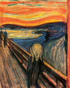 The man in Edvard Munch's The Scream is certainly feeling anxious, not eager.  Image from Wikimedia Commons.
