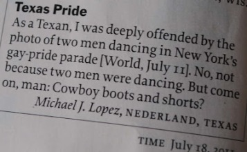 The fashion police wrote to Time Magazine! Image found on Joe.My.God.