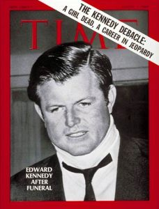 The seizure suffered at the inaugural luncheon was far from Kennedy's first brush with death. In 1969, Time devoted much of this issue to Chappaquiddick.