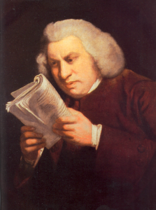 """""""Baby bump? What fresh hell is this?"""" Image of Samuel Johnson Portrait by Joshua Reynolds from Wikipedia."""