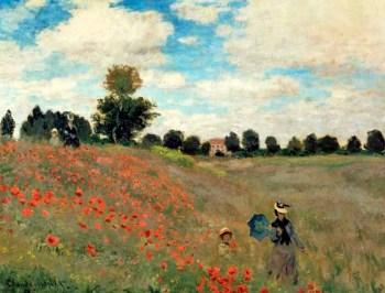 Poppy field near Argenteuil, by Claude Monet.