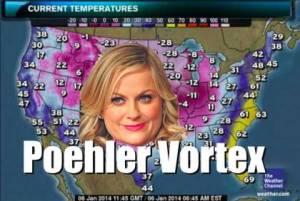Polar vortex, no; Poehler vortex, yes! Image found on CBS Boston.