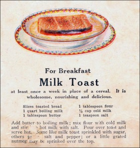 Doesn't that look ... ummm ... not tasty at all ... Image of vintage recipe found on Mr. Breakfast.