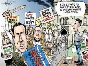 Nope, not all Republicans are like this Editorial cartoon by David Horsey, Seattle Post-Intelligencer.