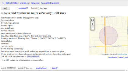 """This Craigslist item has more than """"do to"""" wrong with it."""