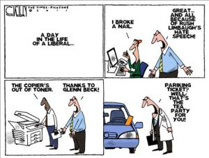 Ignore the misspelling, but this isn't the typical Democrat. Editorial cartoon by Steve Kelley, Times-Picayune.