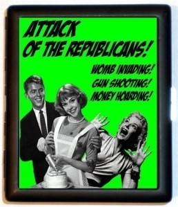No, not all Republicans are like this ... just, apparently, the loudest.  Image of cigarette case found on Sweetheartsinner's Etsy page.
