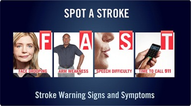 Be aware of your stroke risk. Image from Stroke Association.