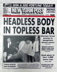 The infamous hed, credited to Vinnie Musetto.