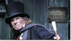 Ebenezer Scrooge was niggardly until he learned the error of his ways. Image found on Cracked.