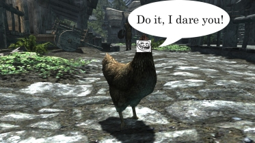 You're not really a coward, are ya? Image found on Skyrim Nexus.