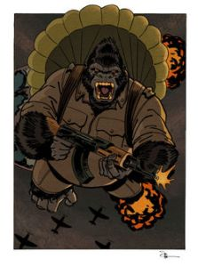 If this idea doesn't scare the crap out of you ... Image of Gorilla Man from Superhero Wiki.