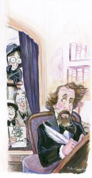 Charles Dickens illustration by John Deering.