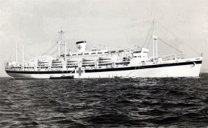 The USS Hope hospital ship, where my grandpa was stationed during World War II.