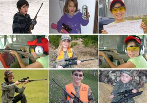Yes, those ARE kid-sized rifles that actually work ... whatever happened to BB guns? Image from crickett.com found on U.S. News/NBC News.