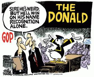 Cartoon by Mike Peters, King Features Syndicate.