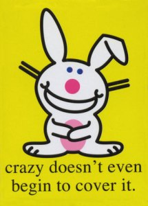 What he said. Happy Bunny (I LOVE Happy Bunny!) image found on The Sweet Escape.