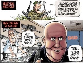 Pretty much sums it up. Cartoon by David Horsey, Seattle Post-Intelligencer.