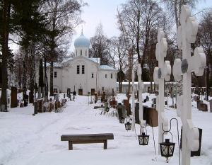 Perhaps this Russian orthodox cemetery might be one of those prolific graveyards. Photo by Alan Grant found on Art Nectar.