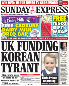 I didn't know Prince George was Korean! Image found on The Independent.
