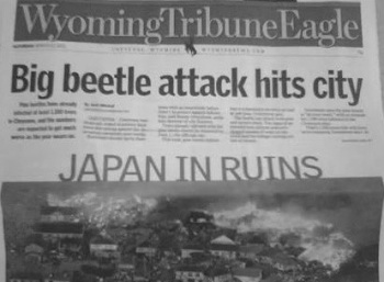 First it's Godzilla ... and now this??? Image found on BadNewspaper.