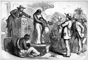 An altogether too familiar sight in the South before slaves were freed. Image found on acton.org.